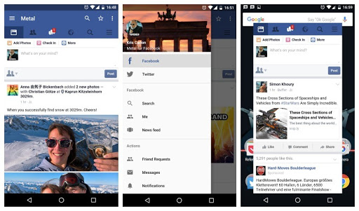 Facebook homepage dashboard overview