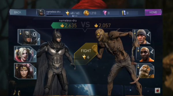 Injustice 2 is a fighting game for mobile