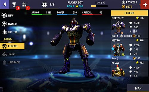 Real Steel is a robot fighting game for mobile devices
