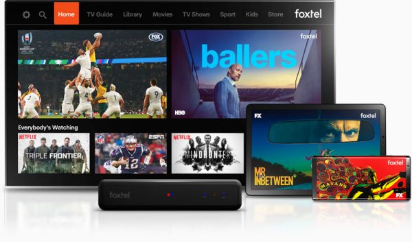 Foxtel homepage from different devices