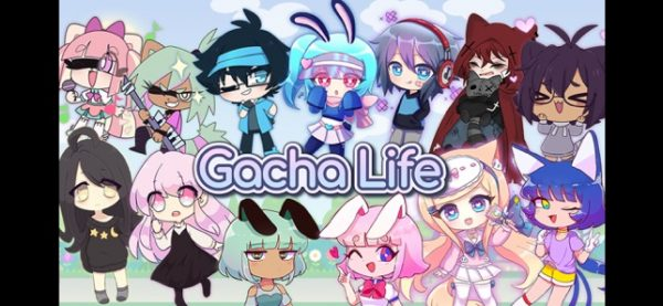 Gacha Life banner featuring characters