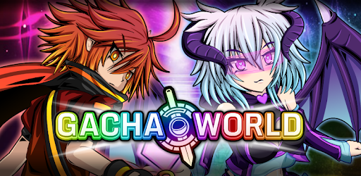 Gacha World banner with in-game characters