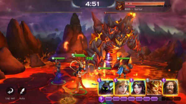 Smite Blitz boss battle