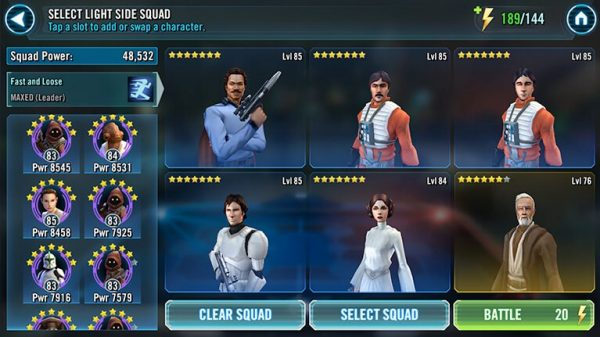 Star Wars: Galaxy of Heroes Characters