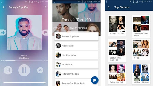 Jango music player apps on Android