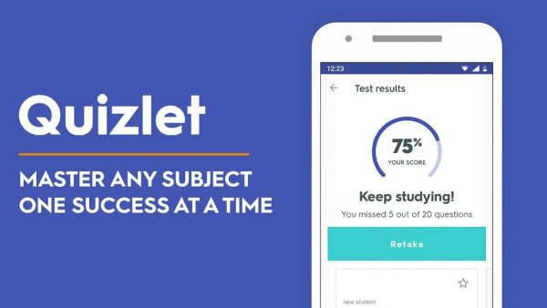 Quizlet study app for college
