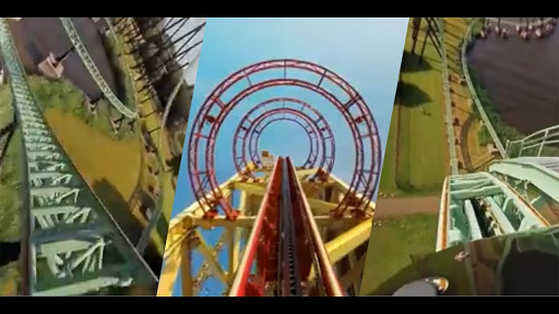 VR roller coaster thrills