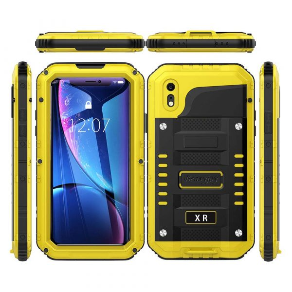 yellow beasyjoy waterproof case for iphone xr