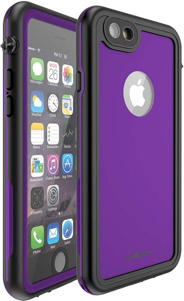 purple cellever waterproof case for iphone 6 plus and 6s plus