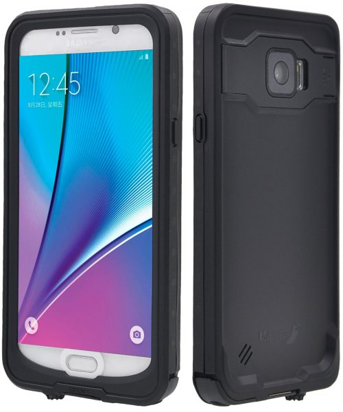 black fulllight tech waterproof case for samsung galaxy note 5