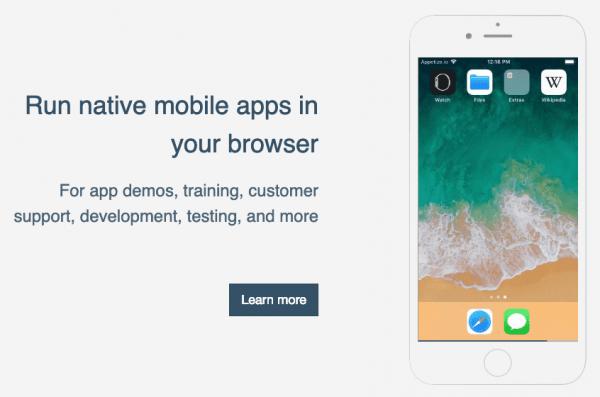 iOS Emulator - appetize.io