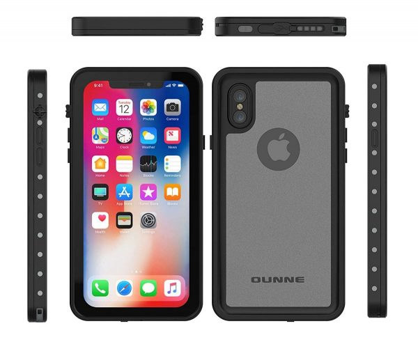 black translucent ounne waterproof case for iphone x