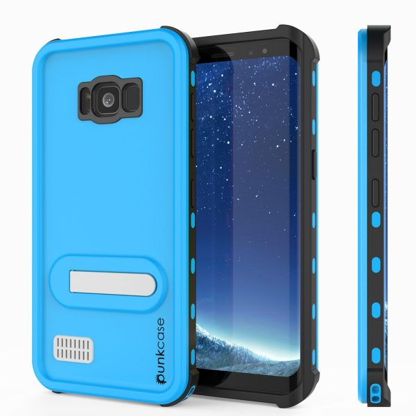 light blue punkcase kickstud series waterproof case for samsung galaxy s8 plus