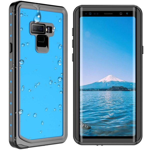 blue spidercase waterproof case for samsung galaxy note 9
