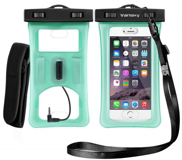 green vansky floatable waterproof phone pouch