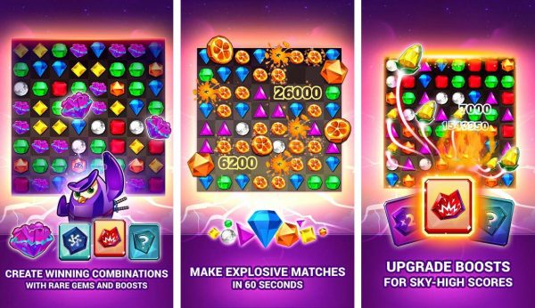 A game like candy crush that match up some gems to rake up points