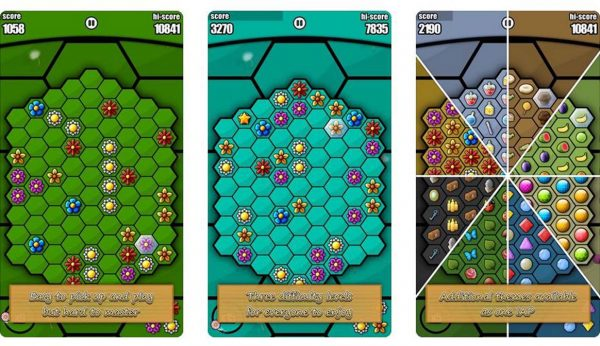 Help build the honey comb in this puzzle game about bees
