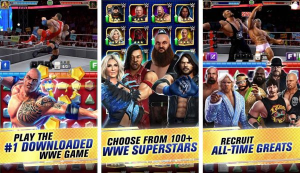 Be the best wrestler in this unique and fun match three puzzle game