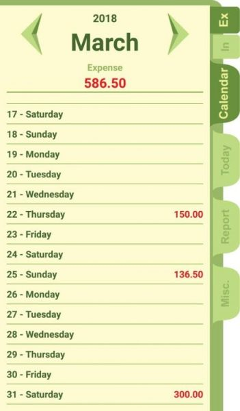 Simple Expense Note