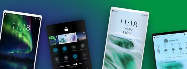 multiple mobile devices shown running SailfishOS