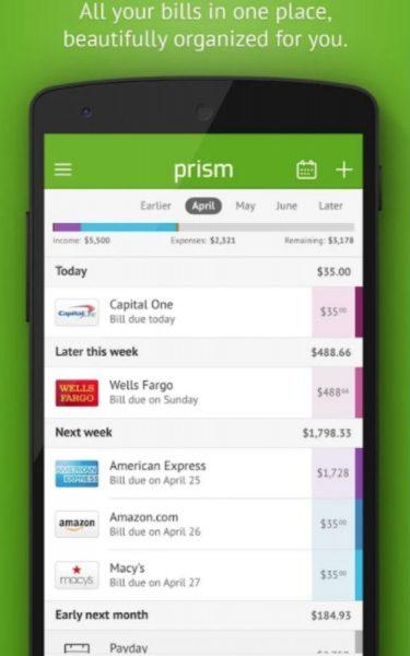 Prism Budget App