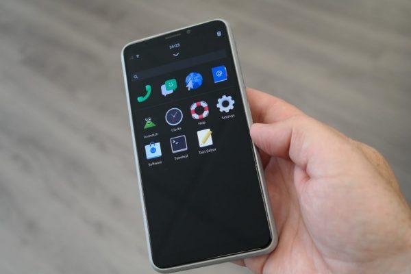 Librem 5 mobile running PureOS