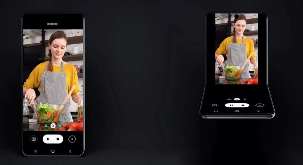 Samsung flip smartphone prototype.