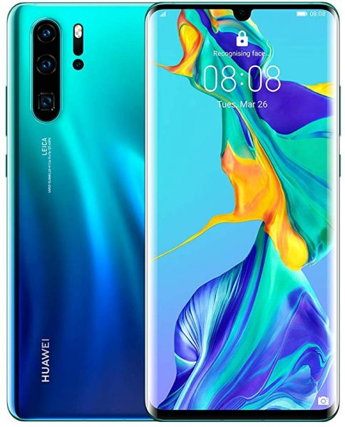 Huawei P30 Pro Aurora color smartphone
