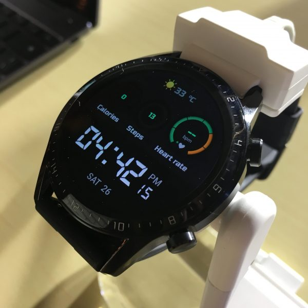 Huawei Watch GT 2 monitors calorie consumption, step count, and heart rate