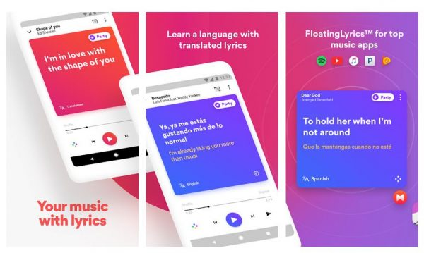 play music w/ lyrics with the best android music player