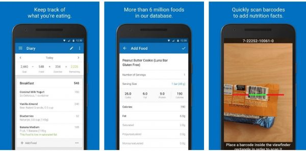 fitness app that keep track of what you are eating