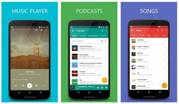 best android music player that allows you to listen podcasts