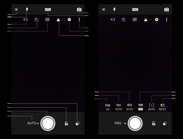 Lightroom Mobile's Professional mode