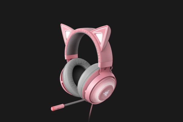 Featuring cat ears, this headset is stylish and adorable