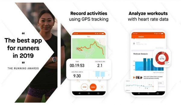 Records activity using GPS tracking