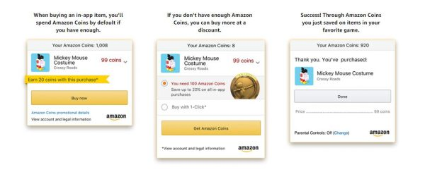 buy mickey mouse costume by using amazon coins