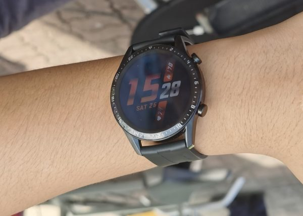 Huawei Watch GT 2 on the wrist of an actual user