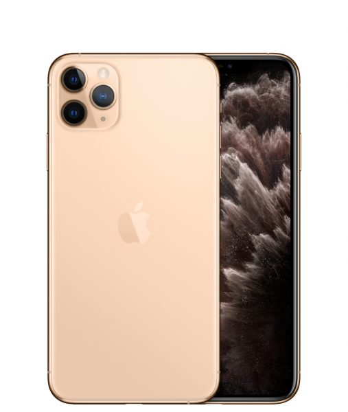 iPhone 11 Pro Max gold with triple camera