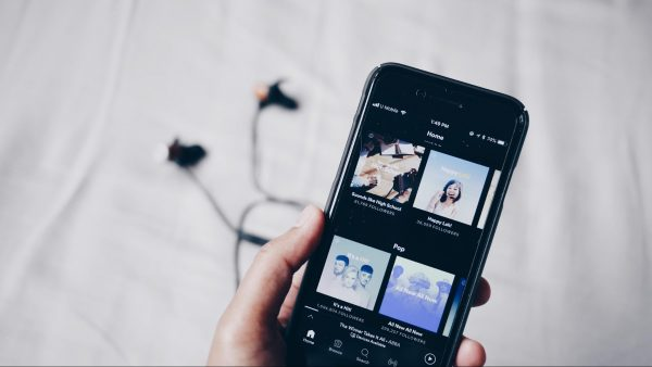 Spotify shown on a smartphone screen