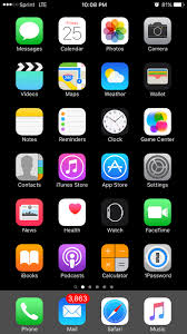 iOS Home Screen