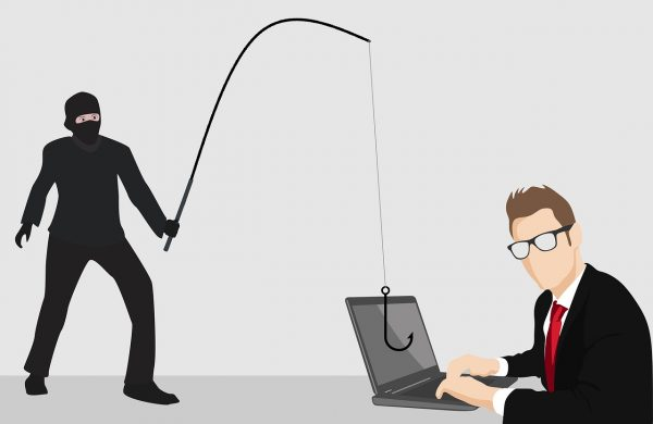 phishing attack on laptop