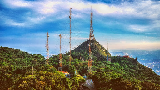 Cellular tower over the mountains