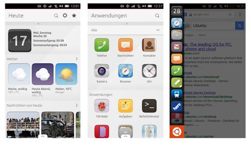 Ubuntu touch interface