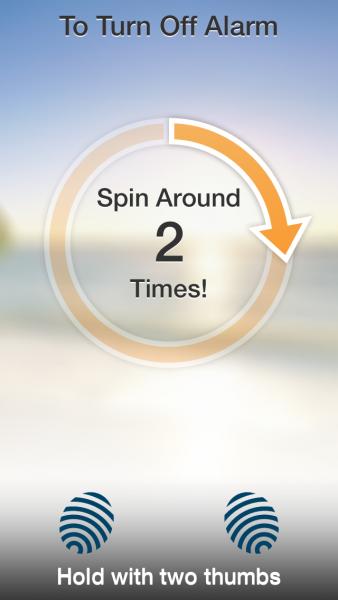 Spin Me Alarm Clock