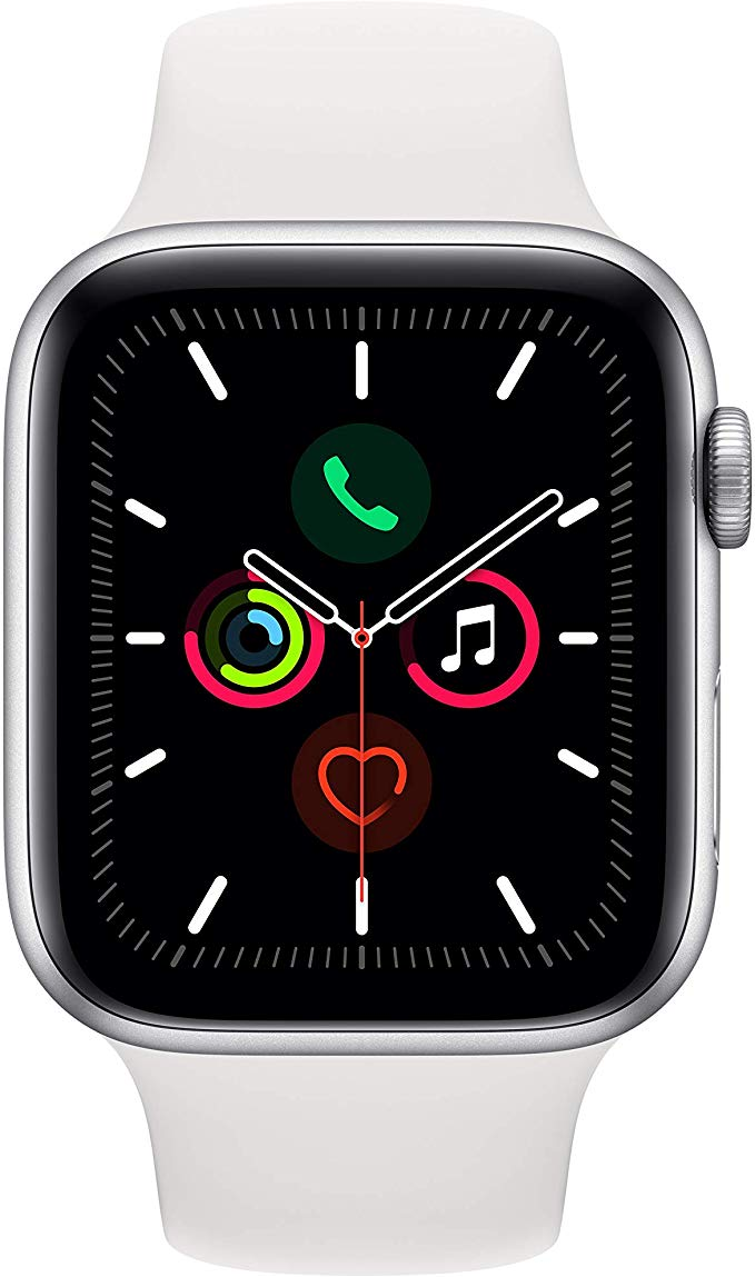 http://Apple%20Watch%20Series%205%20with%20white%20sport%20band%20and%20aluminium%20case.