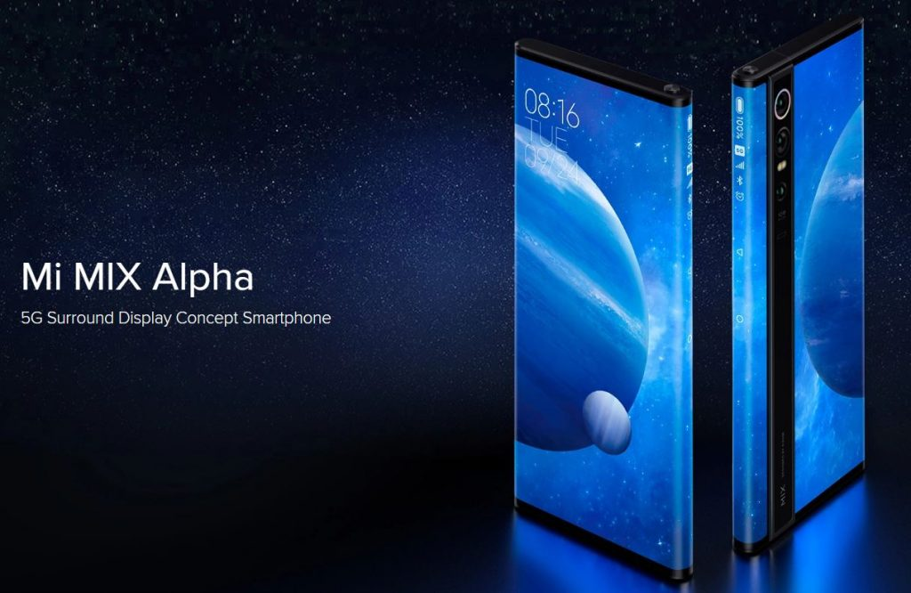 Xiaomi's Mi Mix Alpha surround display
