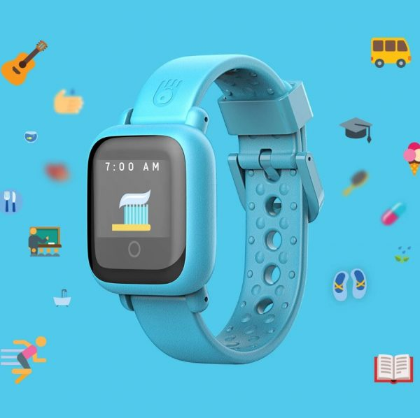 Blue Octopus Watch V2 with toothbrush icon on the screen.