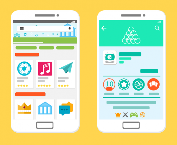 Mobile applications downloded on a mobile phone