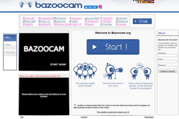 chatroulette alternatives bazoocam
