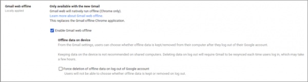 How to make Gmail available offline